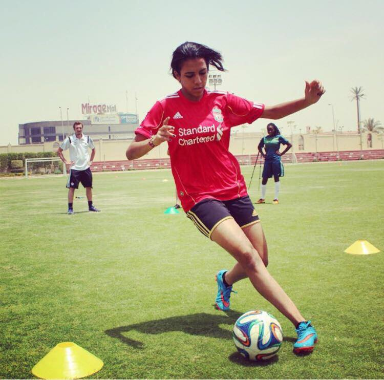 egyptian female footballer sarah essam reaches english premier