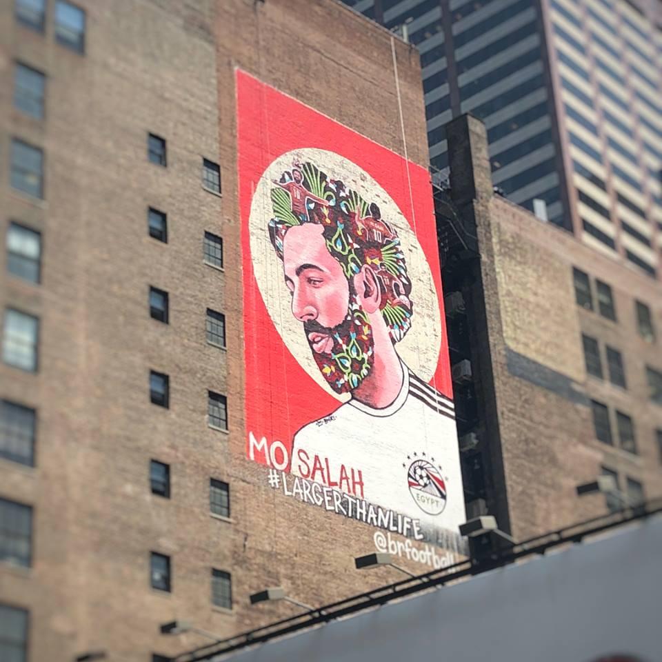 Murales A New York.Ny Times Square Displays Mohamed Salah S Huge Mural Egypt