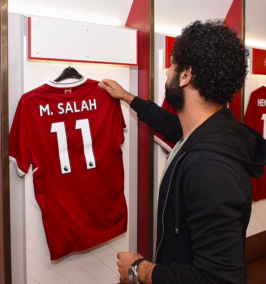 the latest bd74f 3e23d Signed Mo Salah shirt makes martyr's son dream come true ...