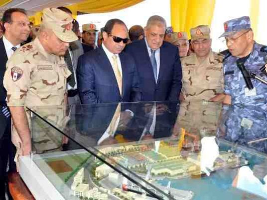 Al-Sisi inaugurates development works at Alexandria Shipyard