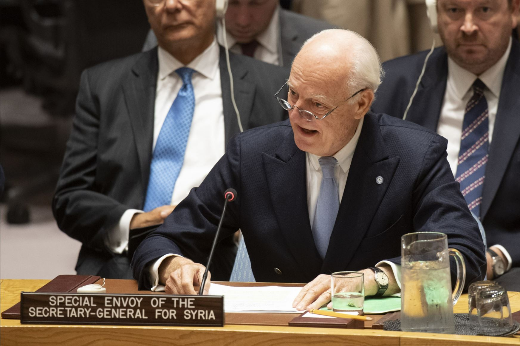 UN Syria envoy to try to move on constitution before leaving