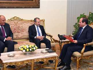 Sisi receives Lebanese Foreign Minister in Cairo