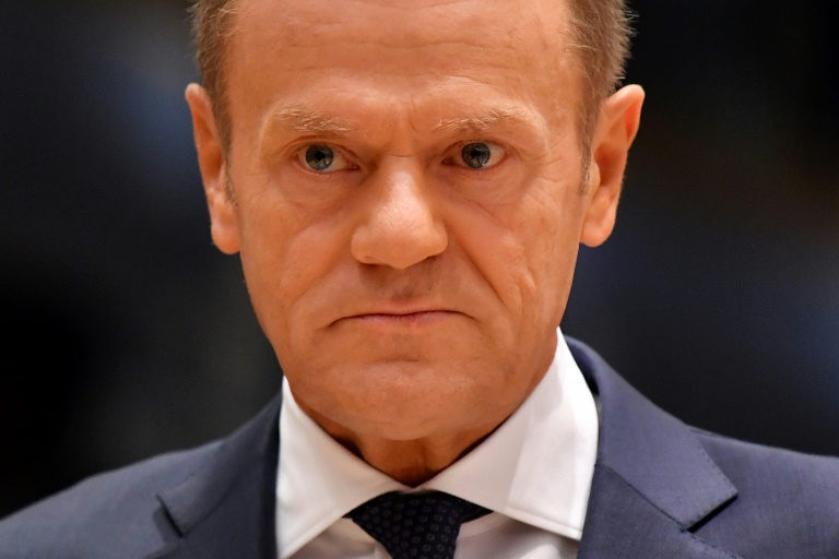tusk lashes out at trump stance on europe egypt independent