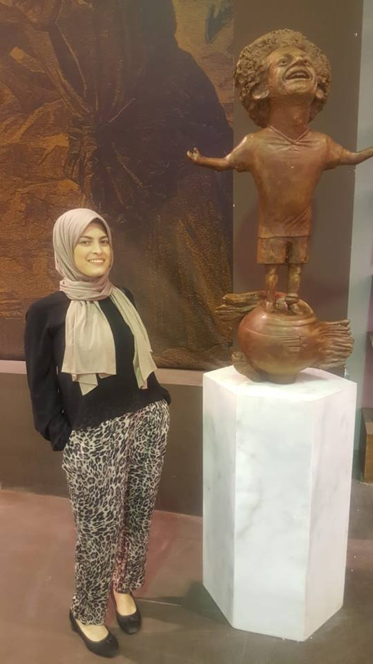 Artist who received criticism for Salah statue defends herself