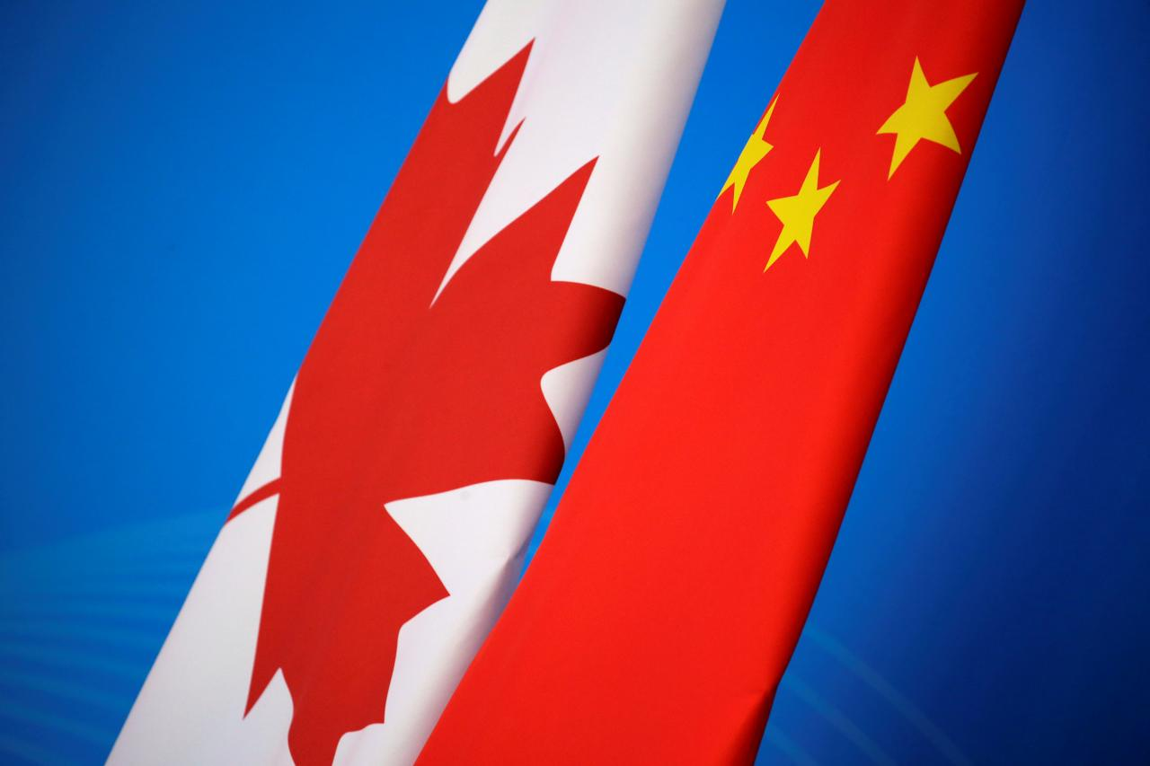 China accuses Britain, EU of hypocrisy over detained Canadians