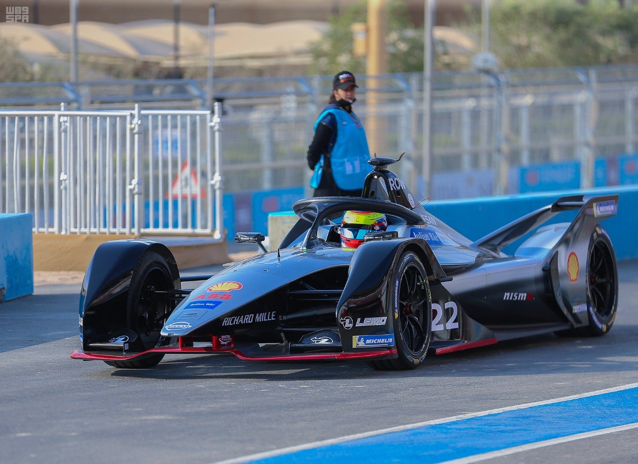 Saudi, Abu Dhabi crown princes watch kingdom's first Formula E race