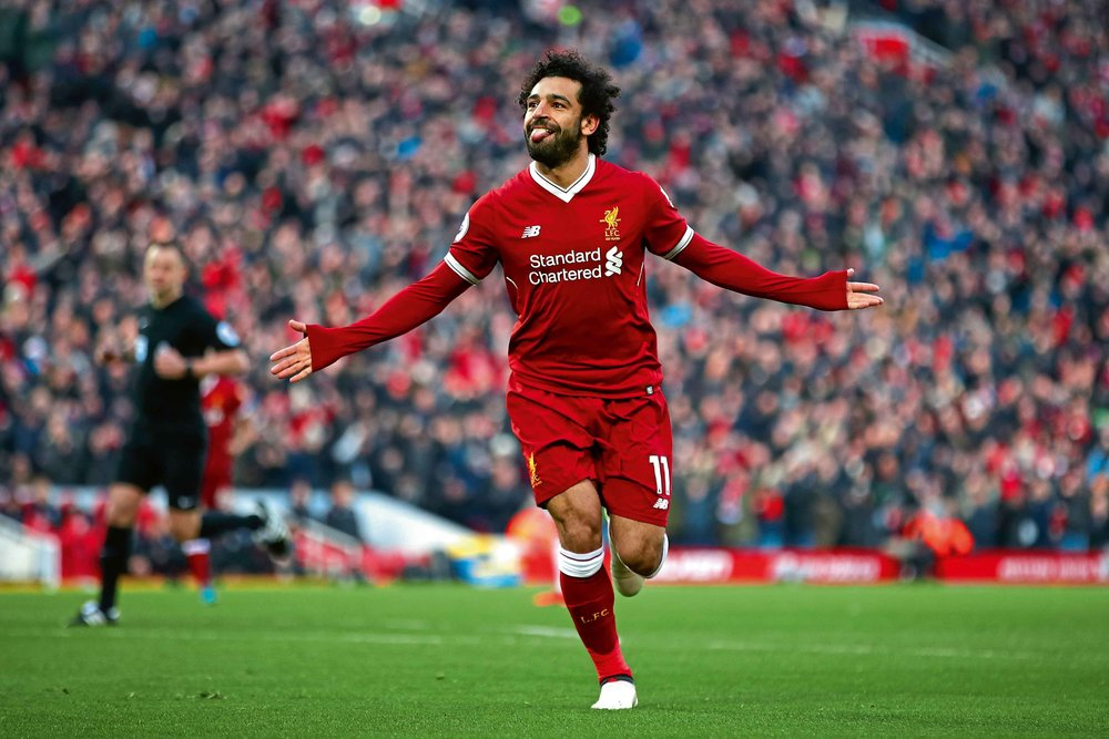 38a2231b946 Egypt and Liverpool s football star Mohamed Salah won the Premier League  Player of the Month for January