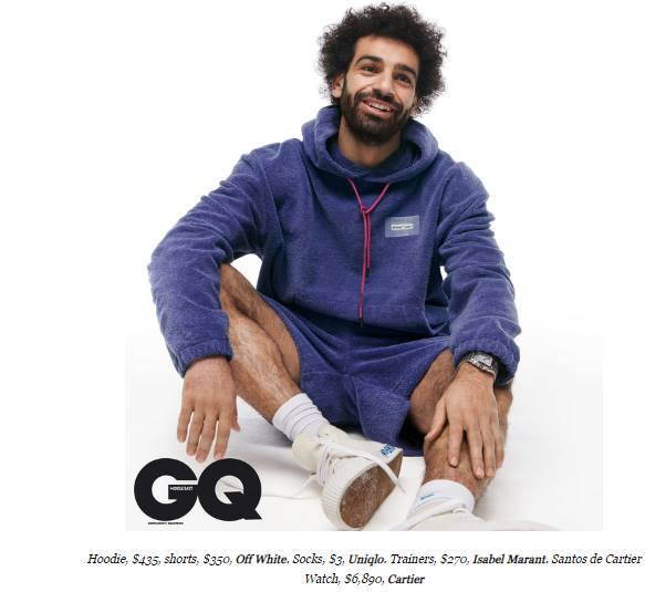 Mo Salah models English, Italian brands for GQ - Egypt Independent