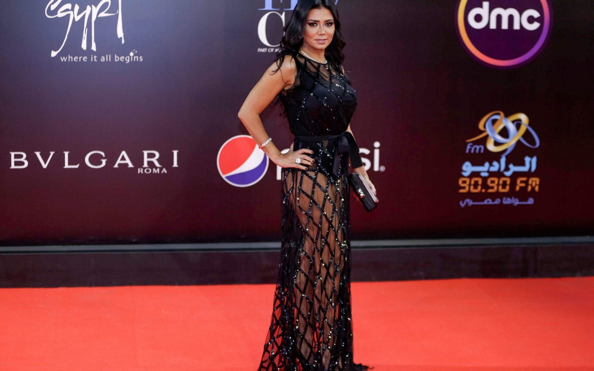 Egyptian actress faces obscenity charge for wearing see-through dress at film festival