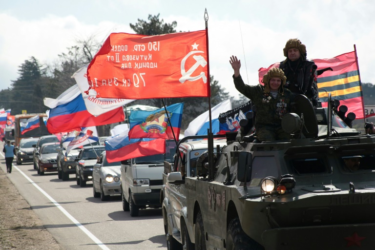 Putin in Crimea as Russia marks five years since annexation ...