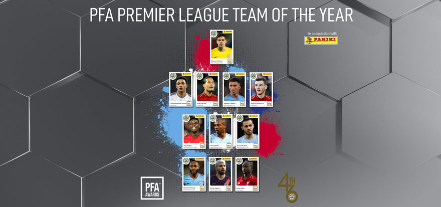 UK's PFA chooses team of the year final list, excluding Mo Salah