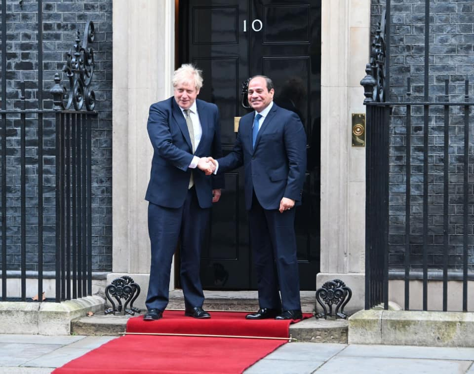Sisi, Johnson hold talks on relations, Libyan crisis in London