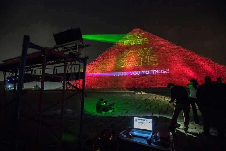 'Stay Home…Stay Safe': Egypt lights up Great Pyramid of Giza with message of solidarity