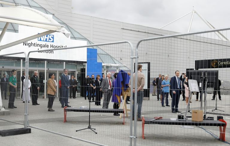 NHS Nightingale Hospital officially opens its doors