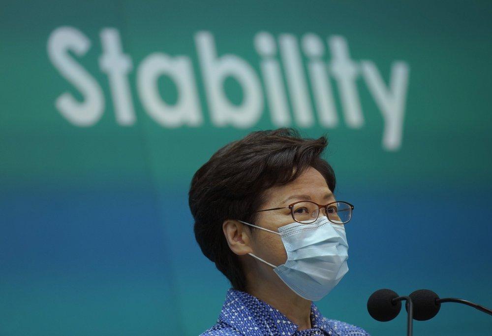 Hong Kong leader Carrie Lam dismisses concerns over rights
