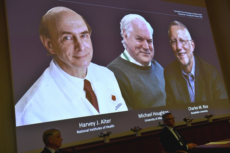 Nobel Prize for Medicine awarded to trio who discovered Hepatitis C virus