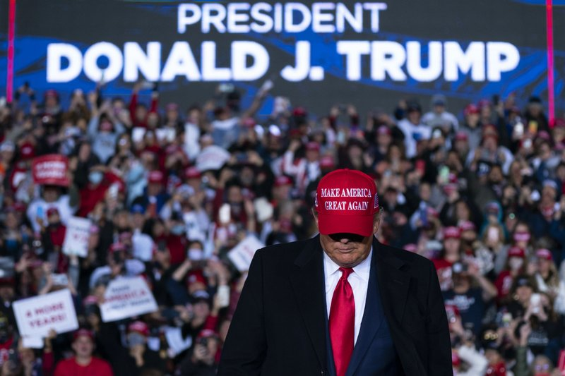 Trump, Biden to rally on final day of race