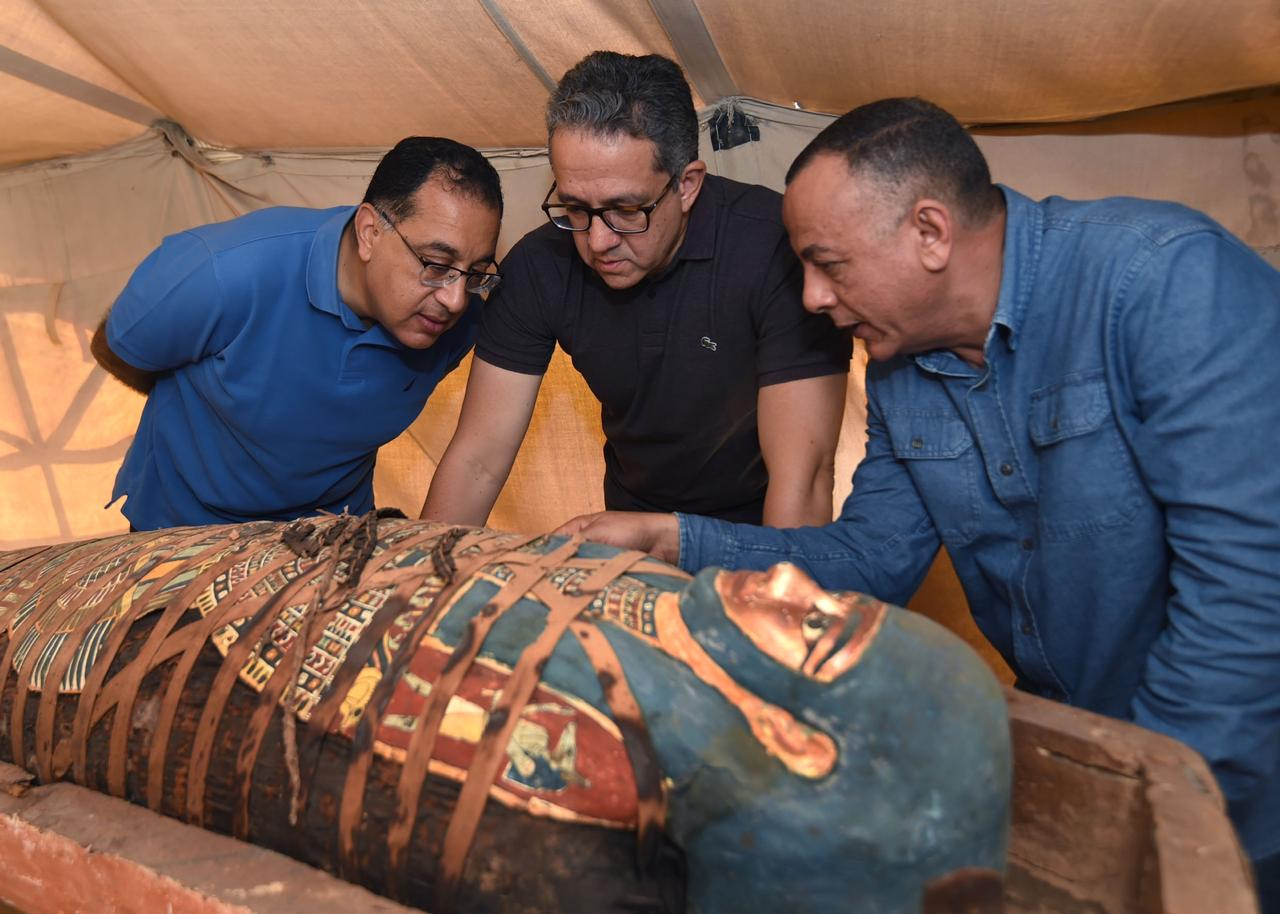 Over 100 more ancient Egyptian coffins discovered in Saqqara area: Minister