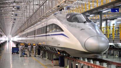 high-speed train line - Bullet train