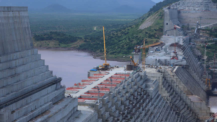 Ethiopia's Grand Renaissance Dam is under construction on the Nile River in Guba Woreda, Benishangul Gumuz Region, Ethiopia, Sept. 26, 2019. Photo by REUTERS/Tiksa Negeri