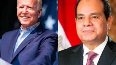 Egyptian President Abdel Fattah Al-Sisi and US President Joe Biden