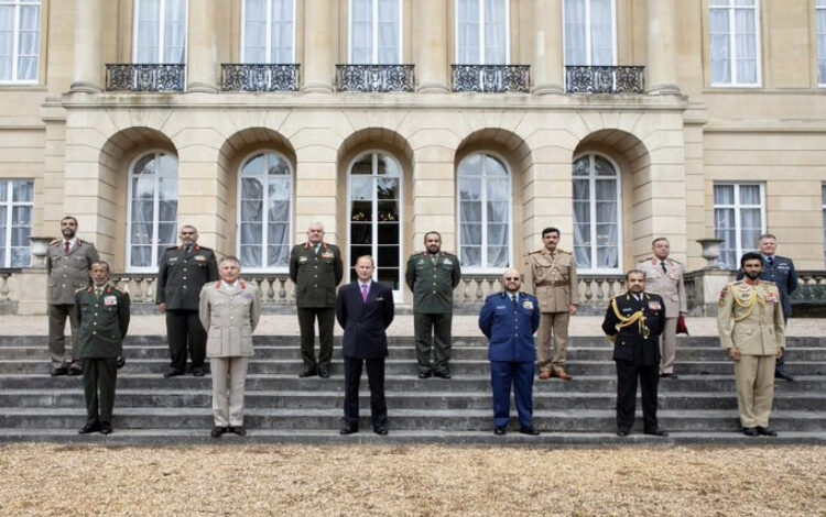 Leaders of nine Arab armies including Egypt meet with their British counterpart