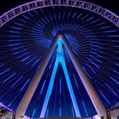 Ain Dubai at night (Dubai Eye)